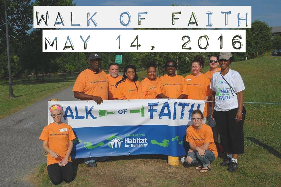 Walk of Faith Date Announcement: MAY 14, 2016