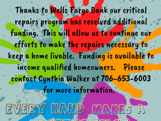 Special Thanks to Wells Fargo!