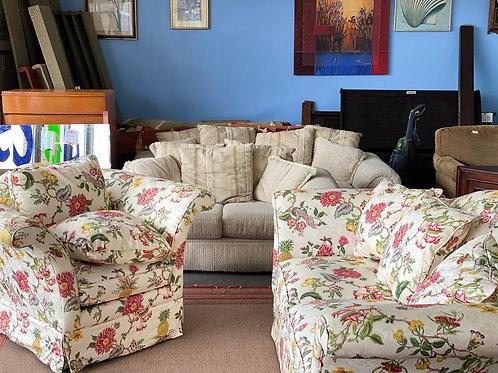 2pc floral sofa