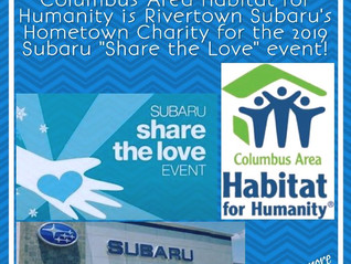 Subaru's Hometown Charity for 2019