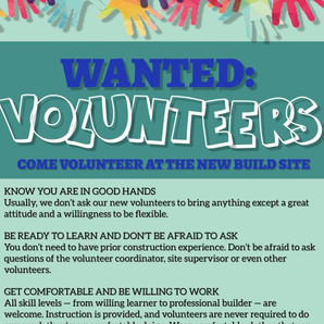 Volunteer - Help build a world where everyone has a decent place to live.