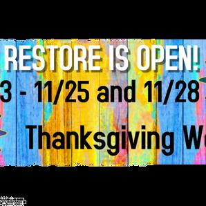 ReStore Thanksgiving Hours