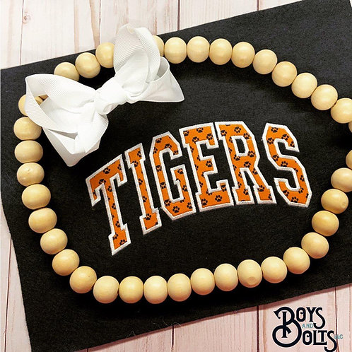 Tigers - Embroidery Applique Short Sleeve Tee | Adult