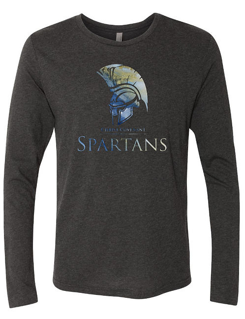 Adult CCS Spartans Spirit Triblend Long Sleeve Crew