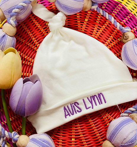 Personalized Infant Baby Beanie Knot Cap Hat