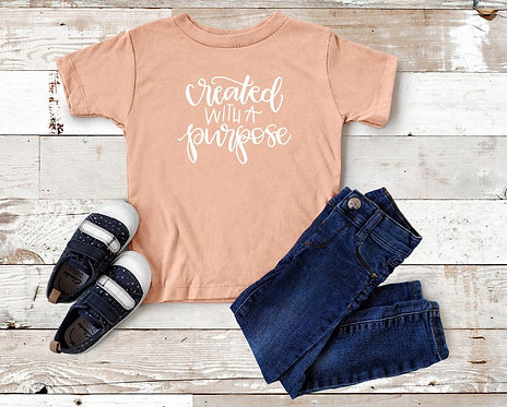 Created With a Purpose Toddler Tee