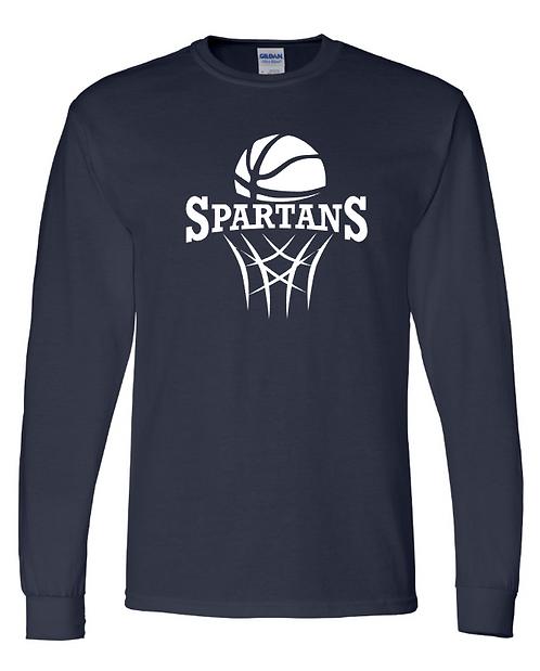 Hanes - Tagless Youth Basketball Long Sleeve Tee
