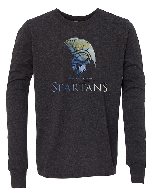 Youth CCS Spartans Spirit Unisex Jersey Long Sleeve Tee