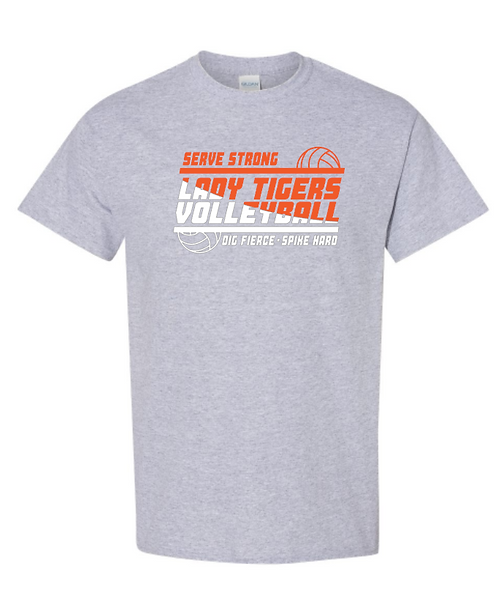Tigers Volleyball Short Sleeve Tee | Youth and Adult