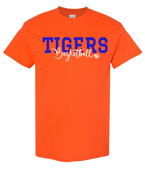 Tigers Basketball Short Sleeve Tee   Youth and Adult