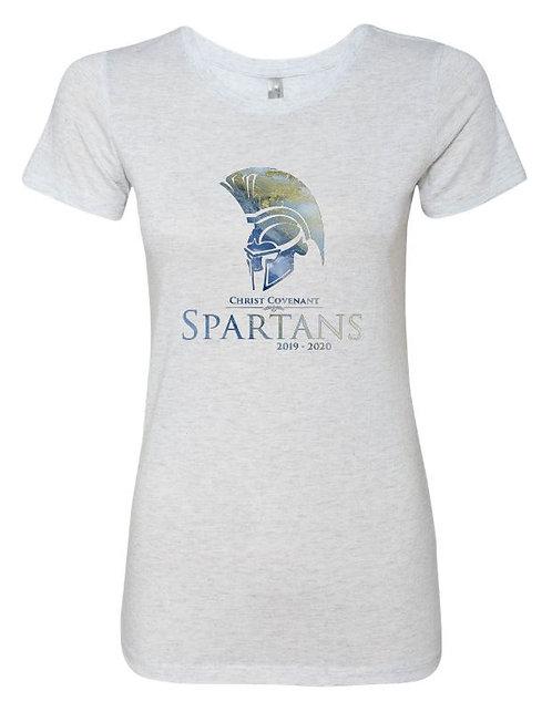 Women's CCS Spartans Spirit Triblend Short Sleeve Crew