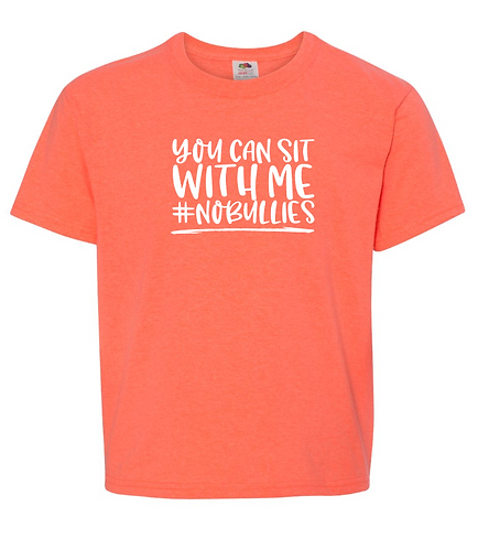 You Can Sit With Me - No Bullies Youth T-Shirt