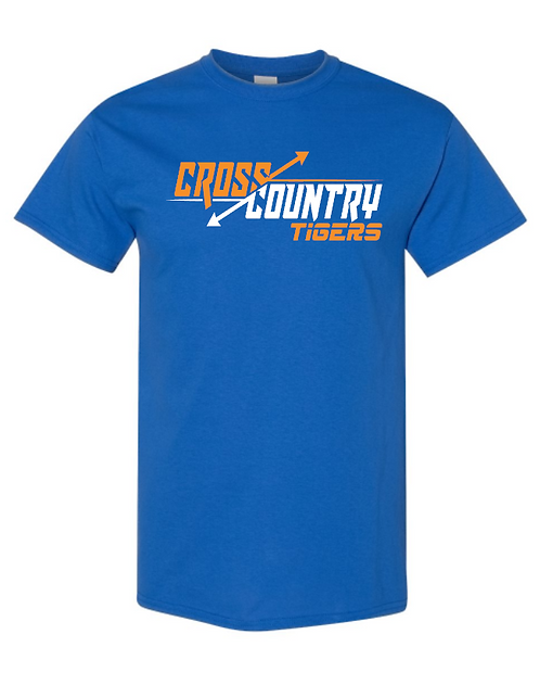 Tigers XC Short Sleeve Tee   Youth and Adult