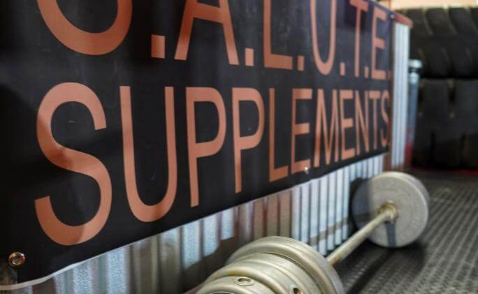 S.A.L.U.T.E. SUPPLEMENTS BARBELL SIDE