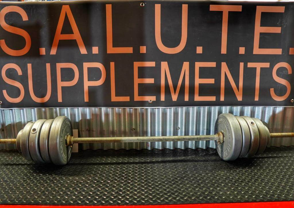 S.A.L.U.T.E. SUPPLEMENTS BARBELL