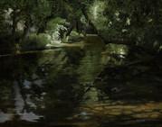 River Avon - 600x500, oil on board_