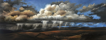 Storm,Ryders - 900x400mm, oil on canvas.