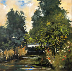 The Salmon Pool - 300x300mm, oil on canvas.
