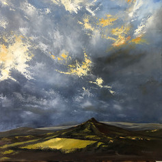 Sharp from Yar Tor - 600x600mm, oil on c