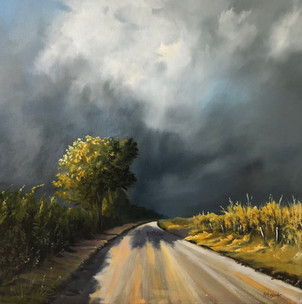 The Road Home - 500x500mm, oil on canvas.