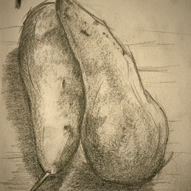 A pair of pears._