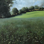 The Grassfield - 300x300mm, oil on panel.