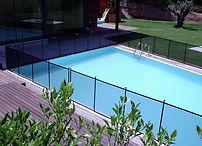 valla para piscina poste negro-malla negra