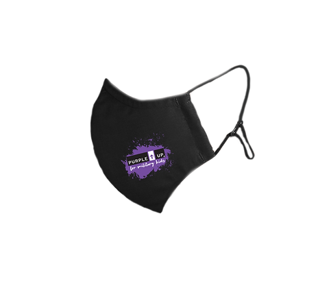 Purple UP for Military Kids Mask