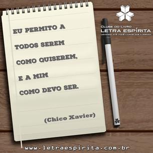 Reflexão de Chico Xavier