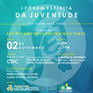 Ajude a Realizar o 1º Fórum Espírita da Juventude