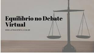 Equilíbrio no Debate Virtual
