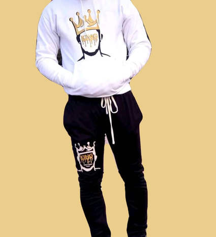 Drip King Sweats (white)