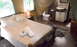Acacia Tent bedroom and interior