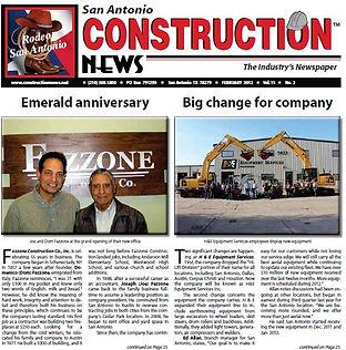 Fazzone Construction-In The News