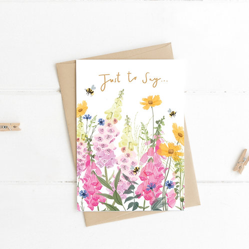 Just to say... wildflower meadow card