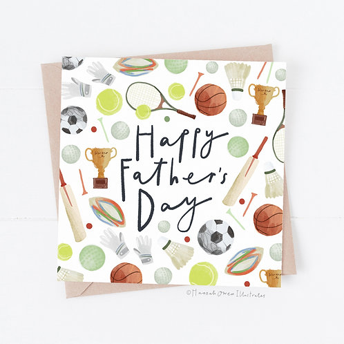 Sports Father's day card