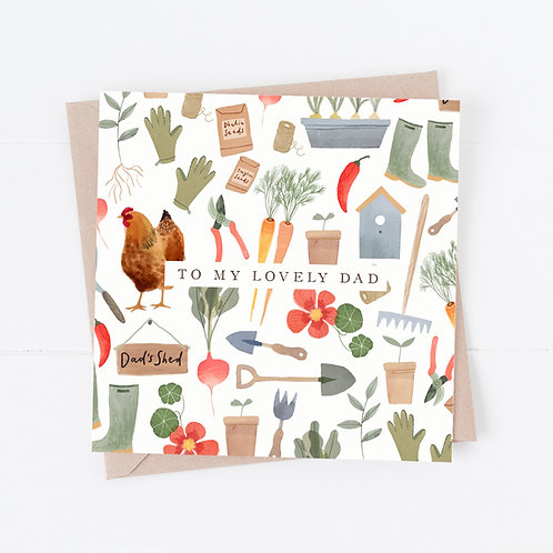 Father's day Gardener's card