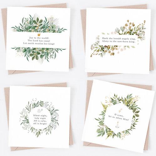 Illustrated botanical Christmas cards