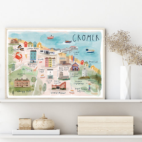 Illustrated map of Cromer