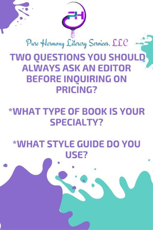 An Editor's Pricing Shouldn't Be Your Primary Focus