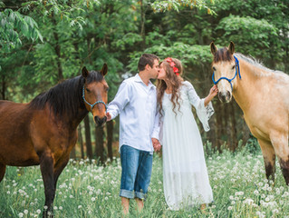 Erika + Nathanael | Rustic Country Engagement