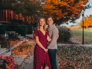 Jamie and Chris | Suburban Engagement Session | Serious New York City Vibes | New Town St. Charles