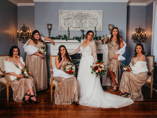 Marissa + Seth | Stunning Winter Wedding | Gold, Red, and Charcoal