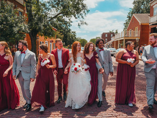 Bekah + Tyler | Main St. Charles | Covid Drive-Thru Wedding