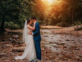 Alison and Cole | Glamorous Backyard Wedding | Creek Bride and Groom | Warrenton, Mo.