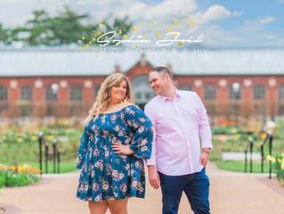 Corisa + Kyle | Engaged | STL Botanical Gardens