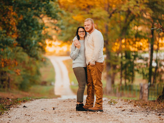 Country Road Engagement | Crazy Fall Colors | Maggie and Carson | Frankford, Mo