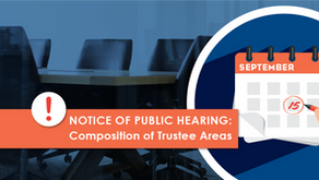 NOTICE OF PUBLIC HEARING: Composition of Trustee Areas
