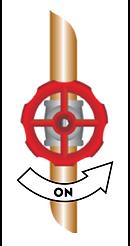 A main line valve turned on