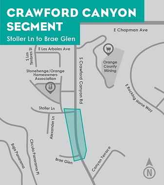 Crawford Canyon segment map